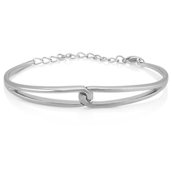 Interlocking Bangle Bracelet in Sterling Silver (7.5 in.)