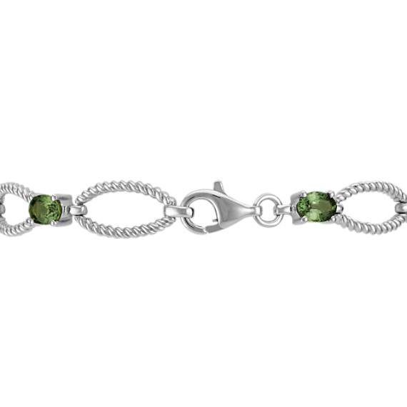 Oval Green Sapphire Bracelet (7)