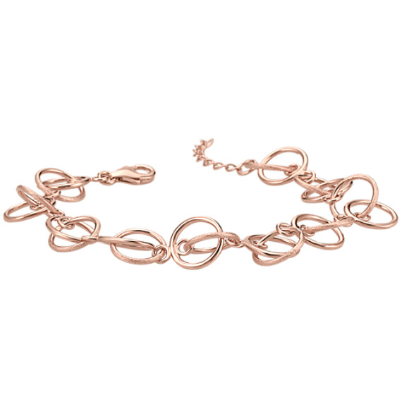 Rose Circle Sterling Silver Bracelet (7)