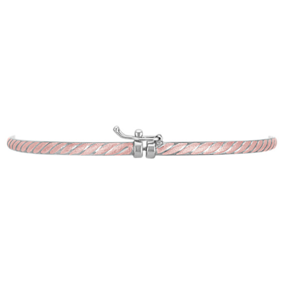 Rose Sterling Silver Bangle Bracelet (7)