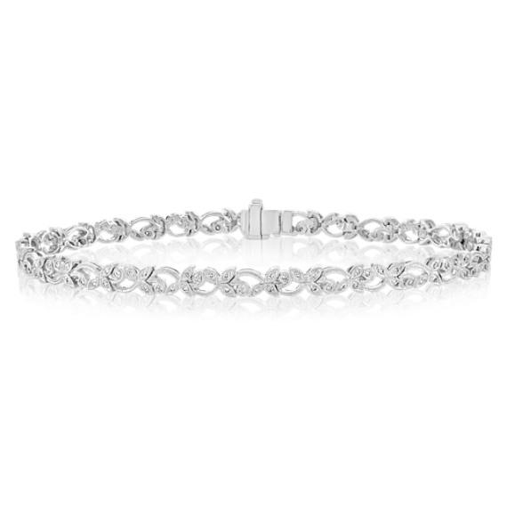 """Round Diamond Bracelet (7.5"""")"""