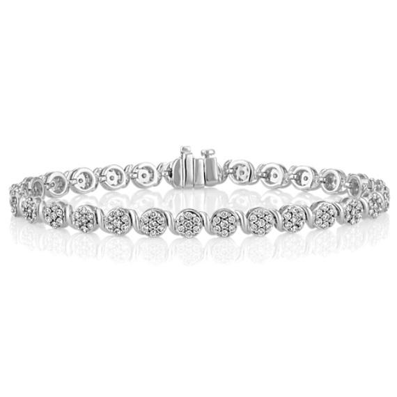 """Round Diamond Bracelet (7.25"""")"""