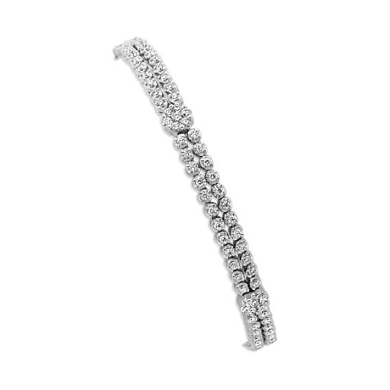Round Diamond Double Row Bracelet (7 in.)