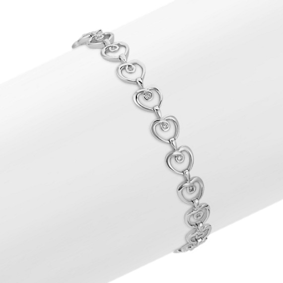 Round Diamond Heart Bracelet (7.25)
