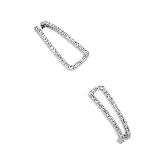 "Round Diamond Open Bangle Bracelet (7.5"")"
