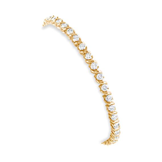 "Round Diamond Swirl Draped Tennis Bracelet (7"")"