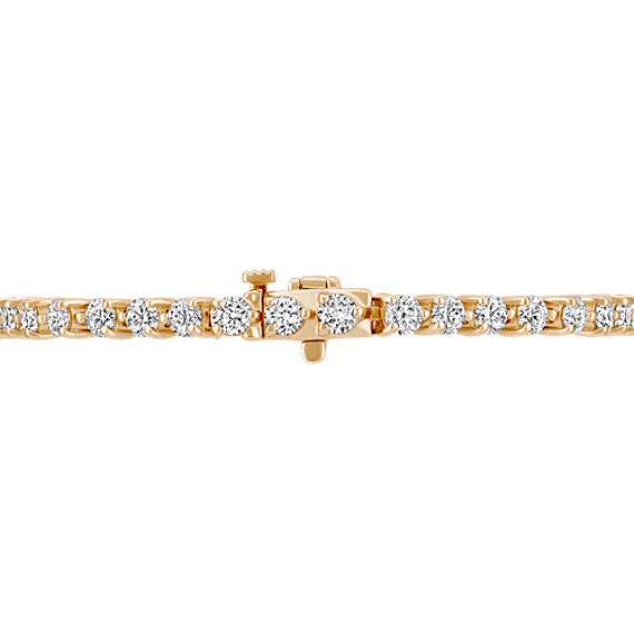 "Round Diamond Tennis Bracelet in 14k Yellow Gold (7"")"