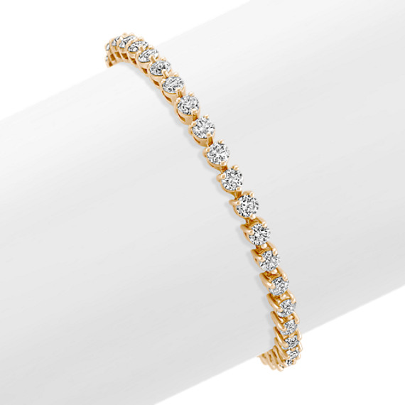 Round Diamond Tennis Bracelet in 14k Yellow Gold (7)