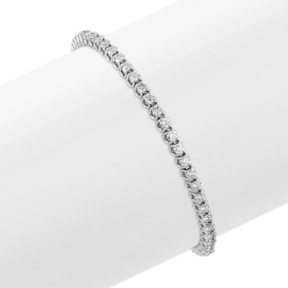 Round Diamond Tennis Bracelet (7) - 3 ct tw