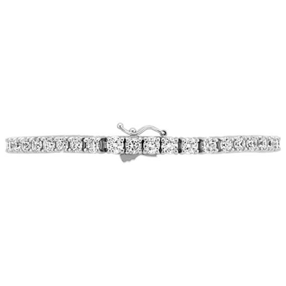 """Round Diamond Tennis Bracelet (7"""")"""