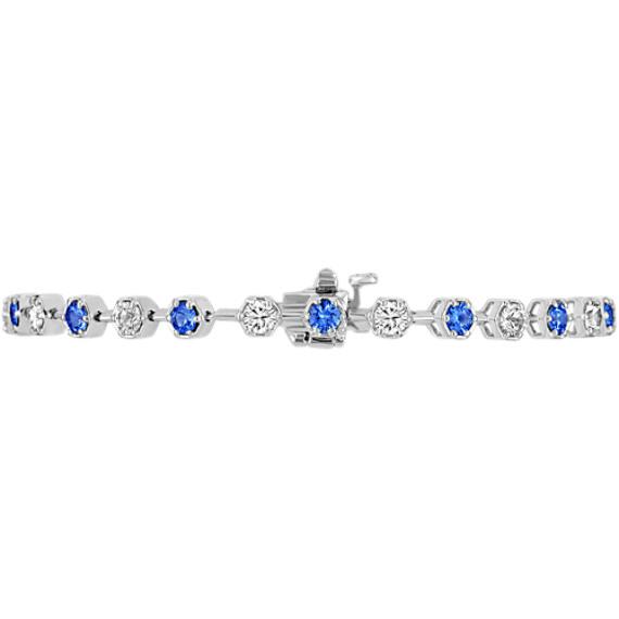 "Round Multi-Colored Sapphire Bracelet (7"")"