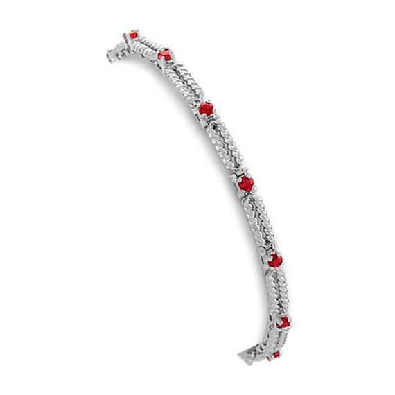 """Round Ruby Bracelet (7"""")"""