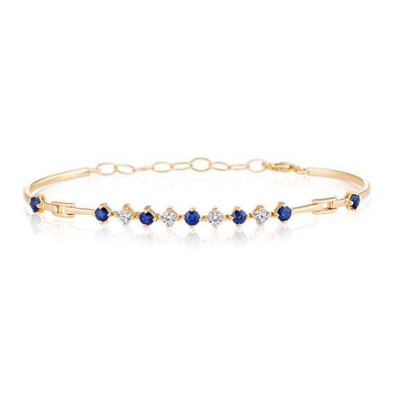 Round Sapphire and Diamond Bracelet (7)
