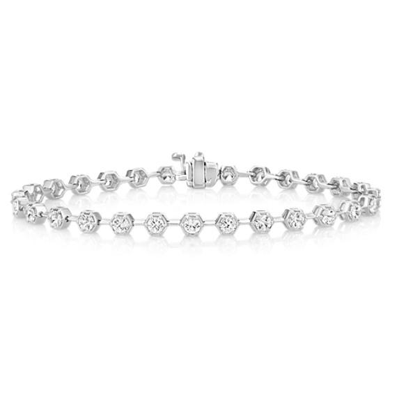 Round White Sapphire Bracelet (7)