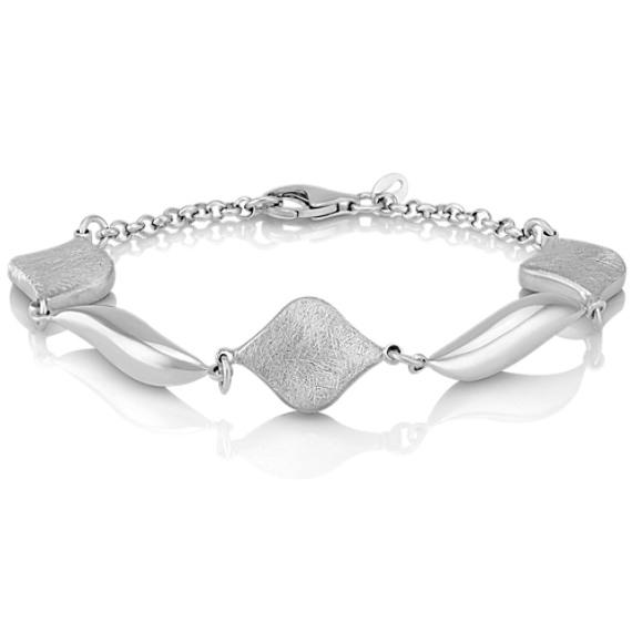 Shaped Sterling Silver Bracelet (7.5 in.)