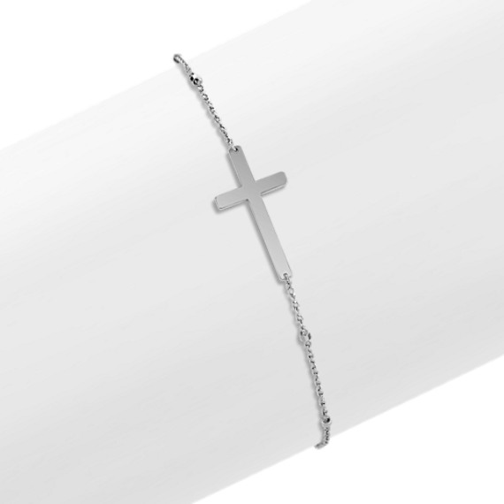 Diamond Sideways Cross Bracelet Sideways Cross Bracelet in 14k