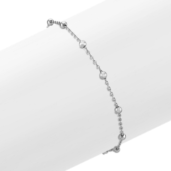 Sterling Silver Bracelet with Unique Cross Clasp (7.5)