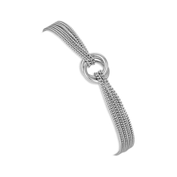 Sterling Silver Circle Bracelet (7.5)