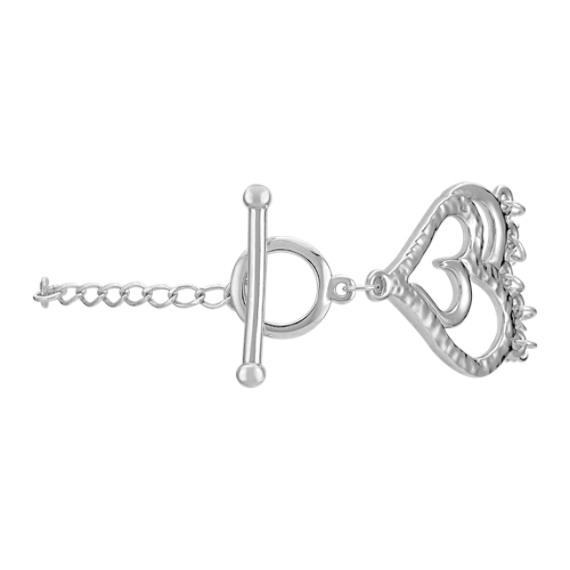 Sterling Silver Heart Bracelet (7.5)