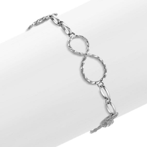 Sterling Silver Infinity Bracelet (7.5)