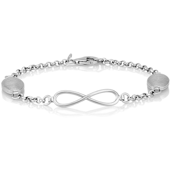 Sterling Silver Infinity Circle Bracelet (7.5 in.)