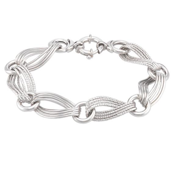 Sterling Silver Link Bracelet (8)