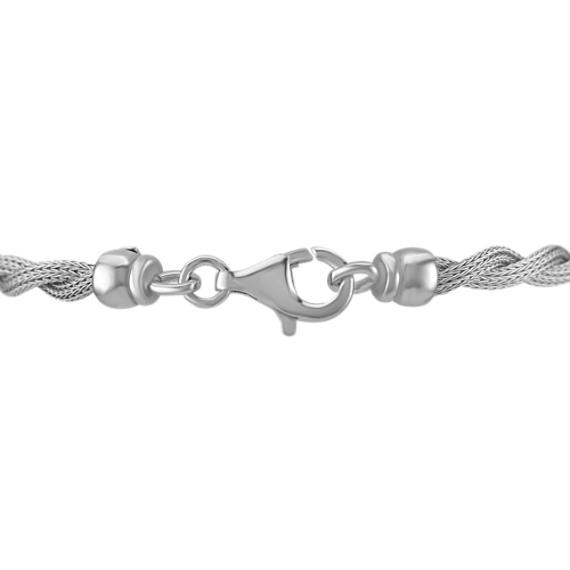 Sterling Silver Rope Bracelet (7.5)
