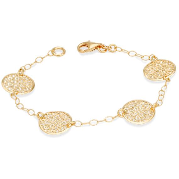 Sterling Silver Spiral Circle Bracelet