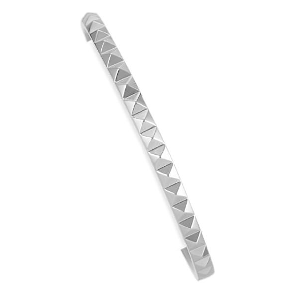 Studded Sterling Silver Cuff Bracelet (7)