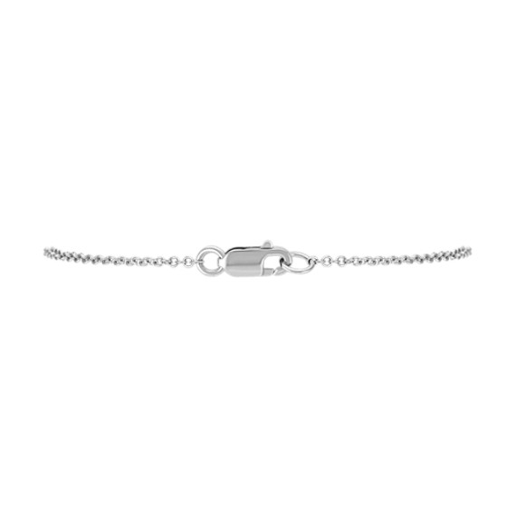 "Twist Round Diamond Bracelet in 14k White Gold (7.5"")"