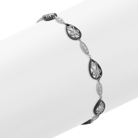 Vintage Diamond Fashion Bracelet with Black Rhodium (7)