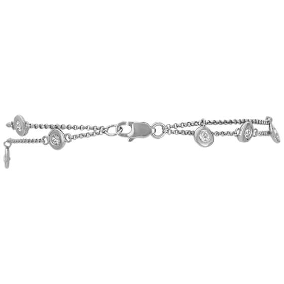 White Sapphire Bracelet with Bezel Setting (7)