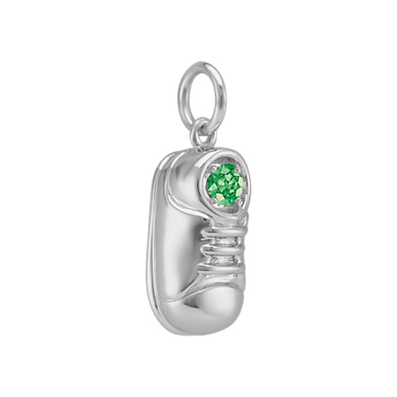 14k White Gold Baby Shoe Charm