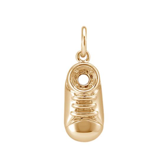14k Yellow Gold Baby Shoe Charm