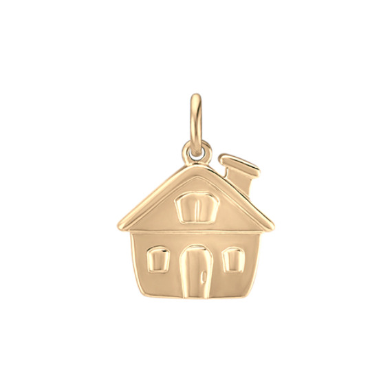 14k Yellow Gold House Charm