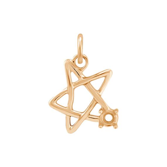14k Yellow Gold Star Charm