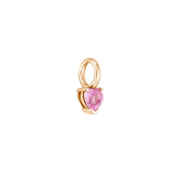 Heart-Shaped Pink Sapphire Charm