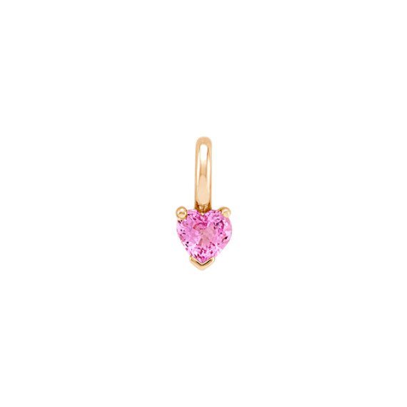 Heart-Shaped Pink Sapphire Charm