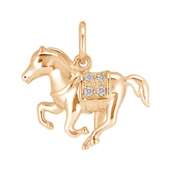 Round Diamond Horse Charm