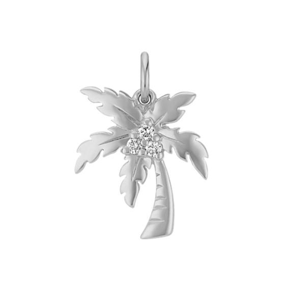 Round Diamond Palm Tree Charm
