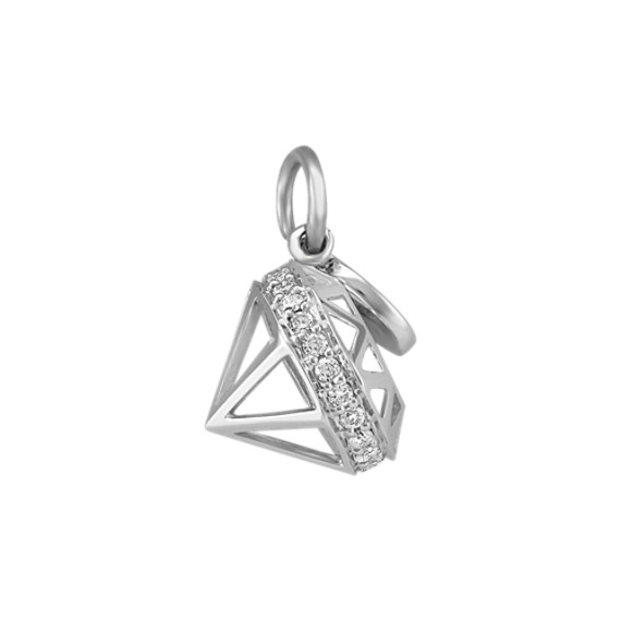 Shane Signature Round Diamond Charm