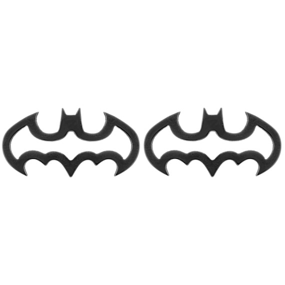 Batman® DC Comics Cuff Links in Black Stainless Steel