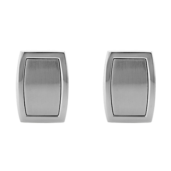Framed Stainless Steel Cuff Links