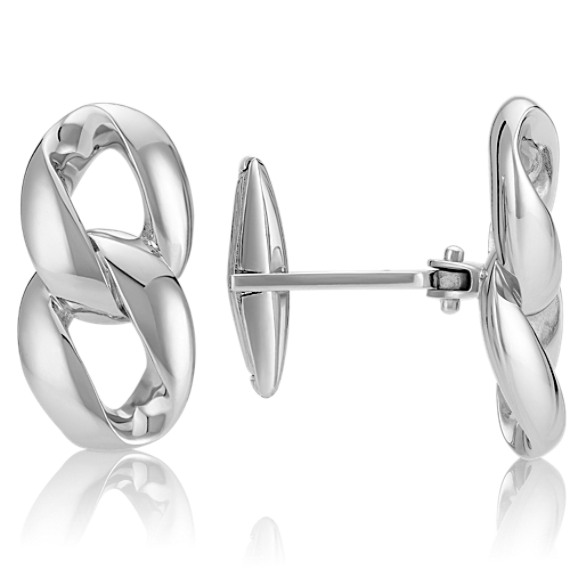 Linked Sterling Silver Cuff Links
