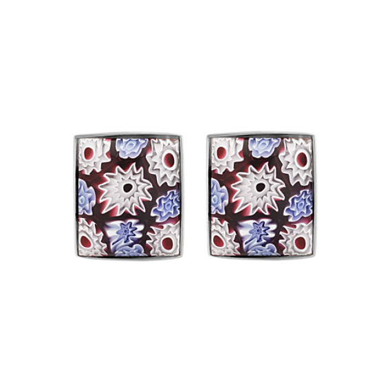 Millefiori Cuff Links in Sterling Silver