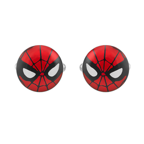Spider-Man® by Marvel Comics Stainless Steel Cuff Links