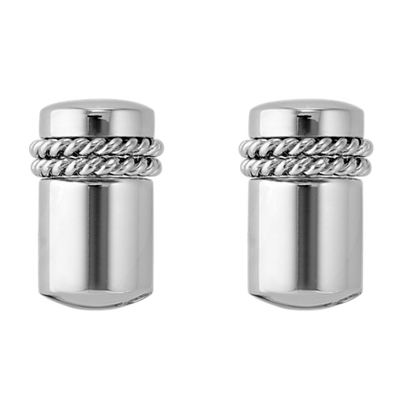 Stainless Steel and Sterling Silver Cuff Links