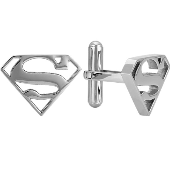 Superman® DC Comics Cuff Links in Stainless Steel