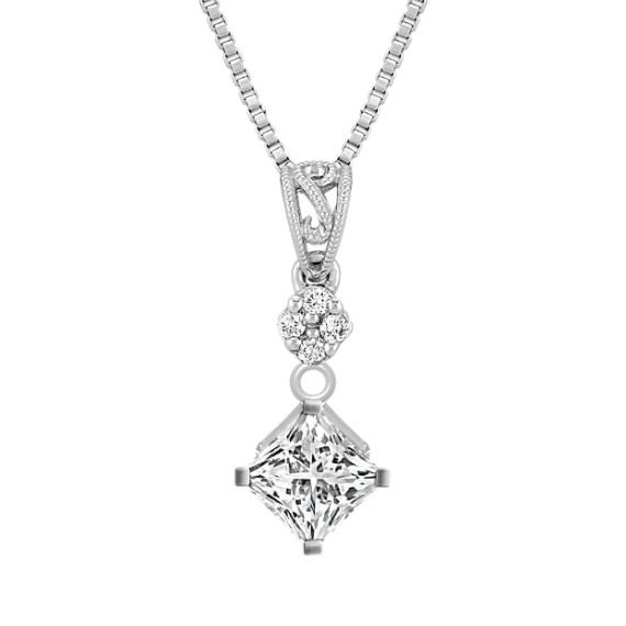 "Diamond Pendant with Filigree (18"")"