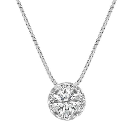 "Diamond Halo Pendant (18"")"